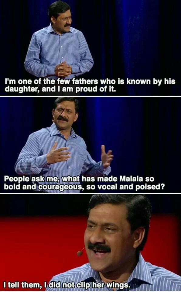 """""""I used education for emancipation. I taught my girls, I taught my girl students, to unlearn the lesson of obedience. I taught my boy students to unlearn the lesson of so-called pseudo-honor."""" -Ziauddin Yousafzai"""