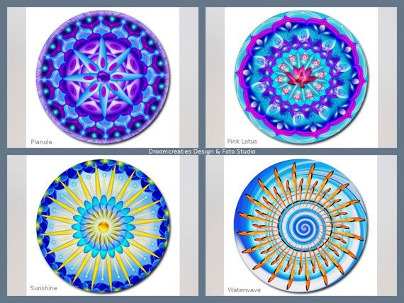 Mousepad mandala design- choose your favorite design: Planula - Pink Lotus - Sunshine - Waterwave This mousepad brings colour in your home,