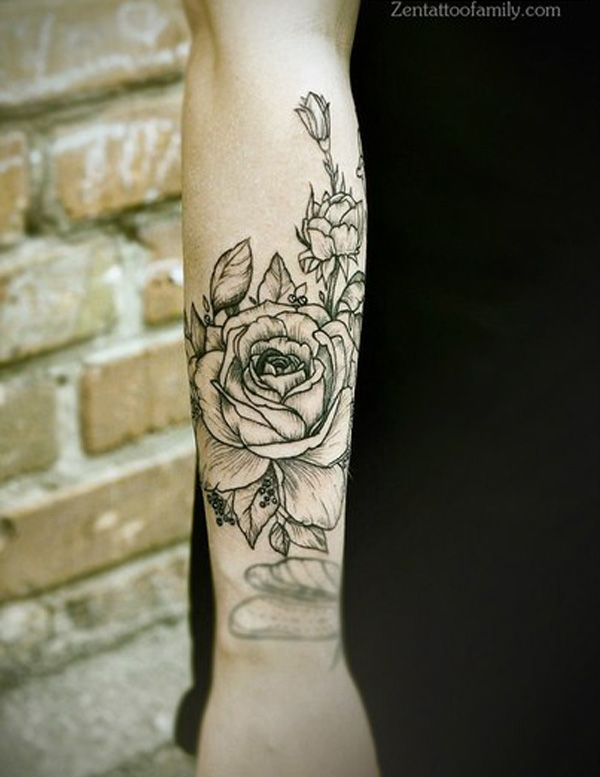 Pretty flower tattoo...50 Examples of Girly Tattoo | Cuded