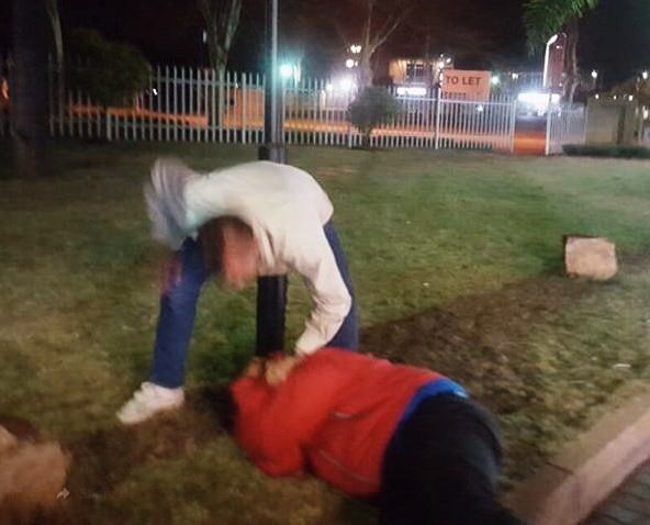 WATCH – DISTURBING VIDEO SHOWS HORRIFIC ATTACK ON BLACK COUPLE BY SIX WHITE MEN IN SOUTH AFRICA