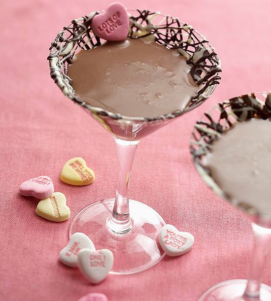 Sweetheart Chocolate Martini (3/4 cup half-and-half or light cream 8 oz dark chocolate liqueur 2 oz vodka)