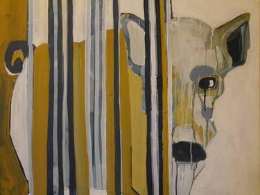"Saatchi Art Artist Laurel Gallagher; Painting, ""The Boar"" #art"