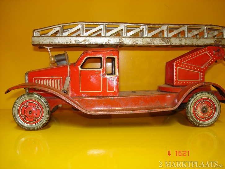 Brandweer auto Blik - Antiek | Speelgoed