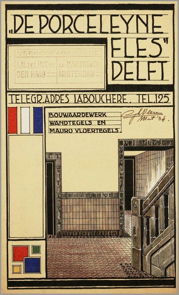 Voor De Porceleyne Fles 1934