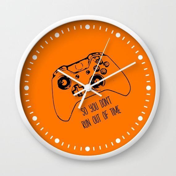 Gamer Wall Clock, Gaming Gift, Video Game Clock, Gamer Clock, Gamer Gift, Gamer Room, Dorm Room Deco