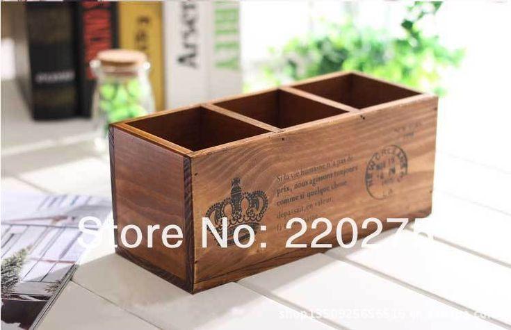 Zakka старинные шерсть твердой древесины 3 кадр./сек. пера пульт дистанционного управления ящик для хранения деревянный ящик трехцветный купить на AliExpress