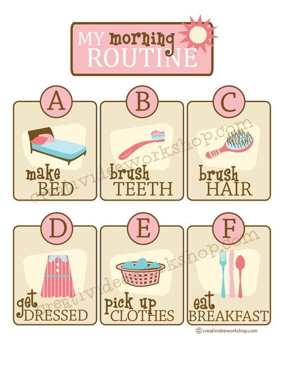school routine chart - Google Search