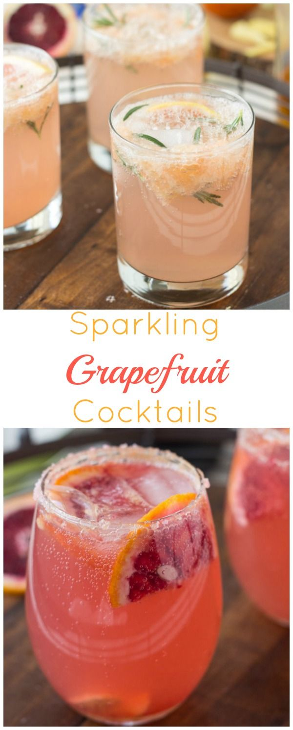 Sparkling Grapefruit Cocktails - refreshing and delicious! ~ http://blahnikbaker.com