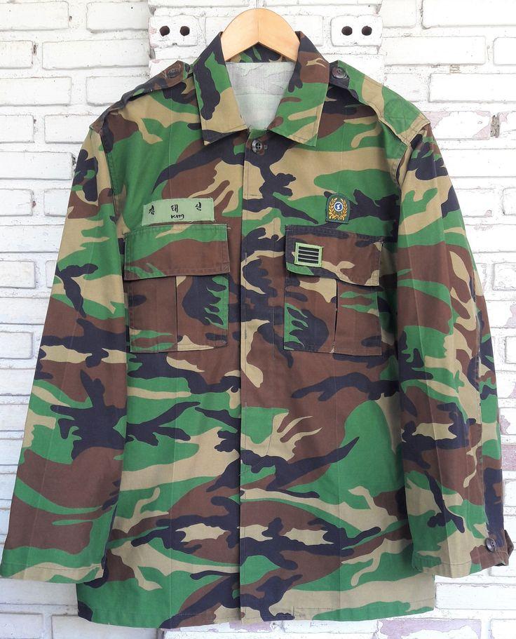 Vintage Military Camouflage Jacket / Vintage Military Jacket / Vintage Camo Jacket Size S Unisex Adult by KodChaPhornJacket465 on Etsy