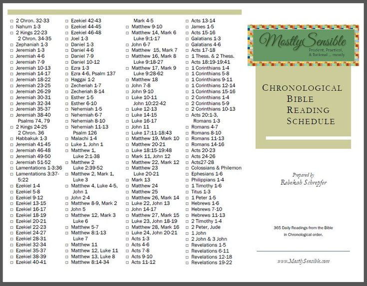 Bible Reading Plans - Jessica's Corner of Cyberspace