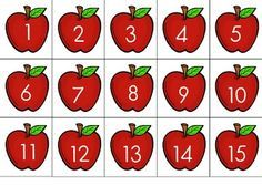 """FREE 1-100 apple cards! Can be used for ordering, sorting as even/odd, playing """"war"""", or many more uses in a math station!"""