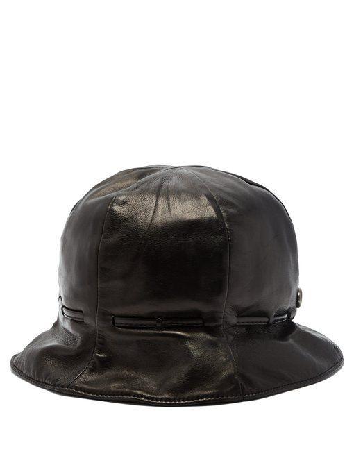 GUCCI Leather bucket hat.  gucci  d0824c1111e7