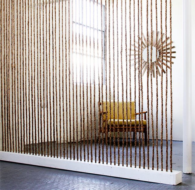 A rope wall is a simple way to define spaces in your home.