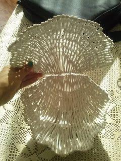 Paper braids DIY - shell wicker paper