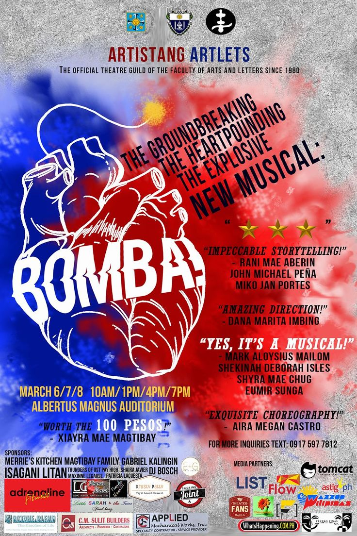 #BOMBA a musical from Artistang Artlets