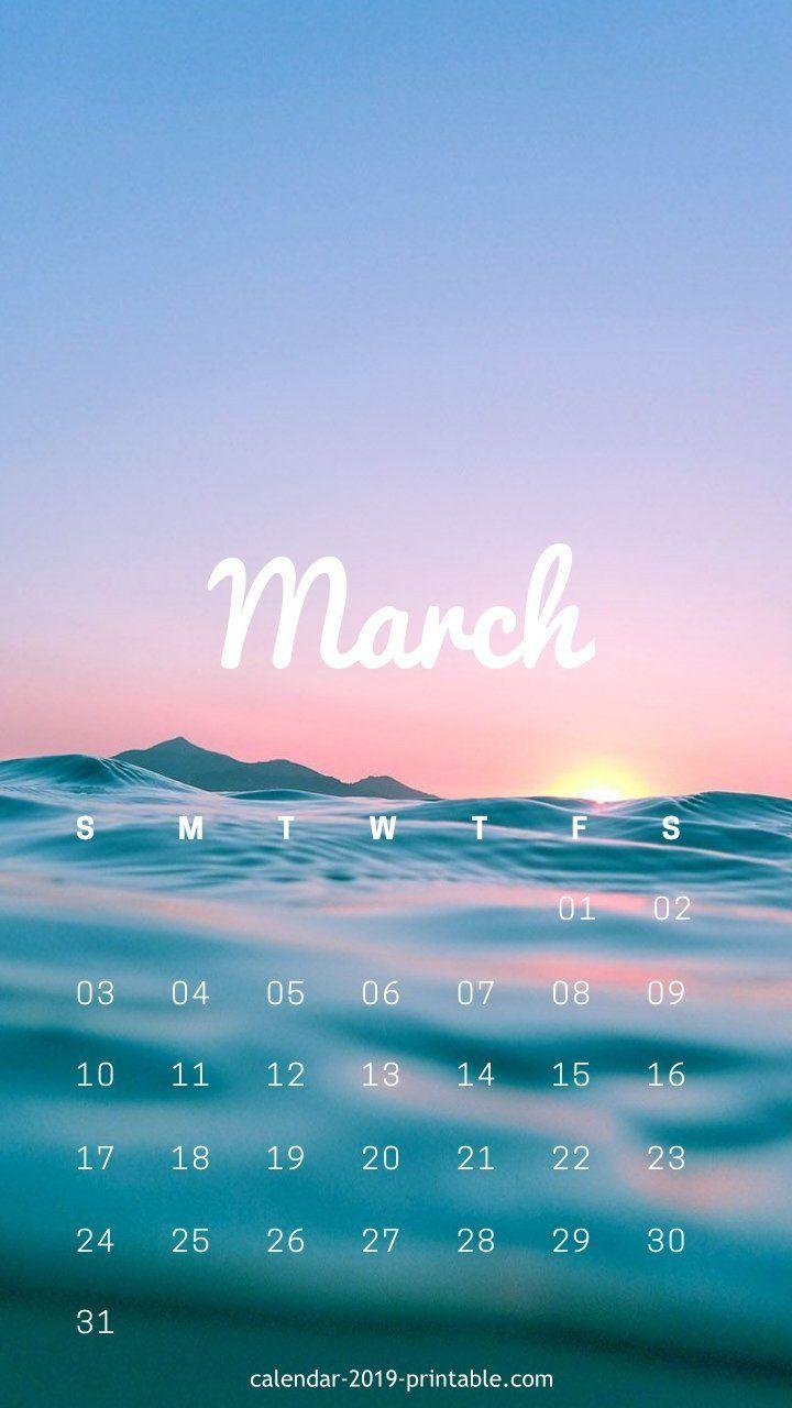 Sunrise Calendar 2019 march 2019 iphone sunrise calendar | Calendar 2019 Wallpapers in