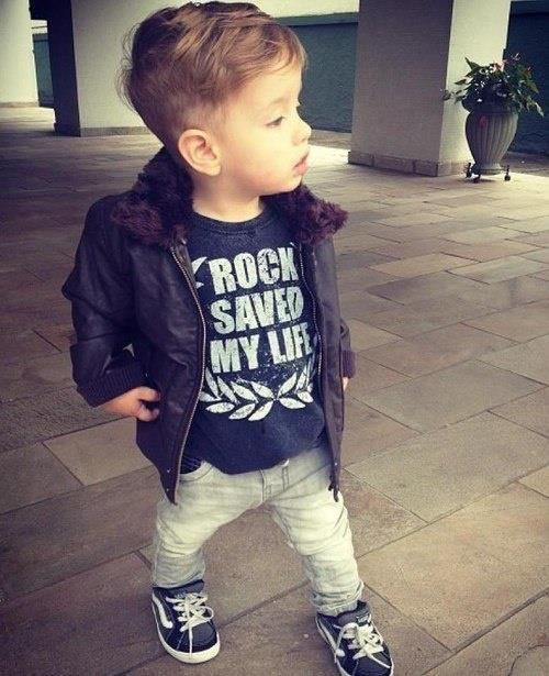 I only like the tshirt... I can't stand when people dress toddlers and babies like adults.