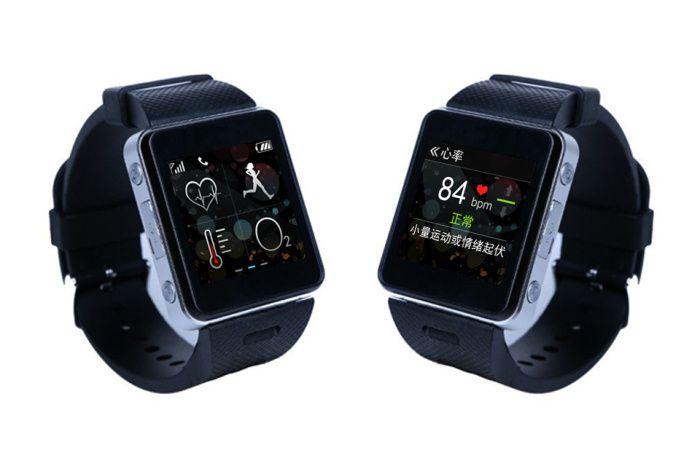 DHL Бесплатная Доставка Sensation 3.0 Смарт Часы-Телефон с 1.6 Экран 240 HD, Встроенная в GPS, температура + Heart Beat Sensor, Слот Sim-карты