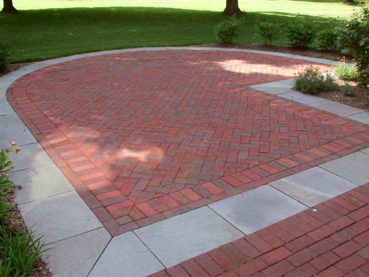 34 best images about brick walkway on pinterest for Bricks design for landscape