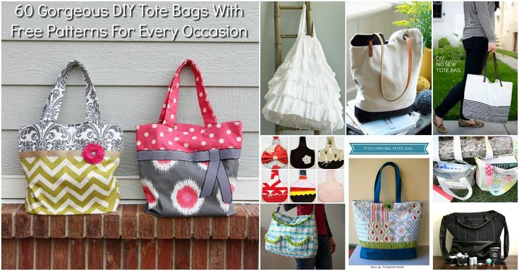 I love tote bags. I have to say, I probably have way more than I will ever use, but that doesn't stop me from getting more – especially when I find wonderfully easy patterns to make them myself. Because of my love for tote bags, I have made a wonderful collection of 60 amazing tote bags you can diy.