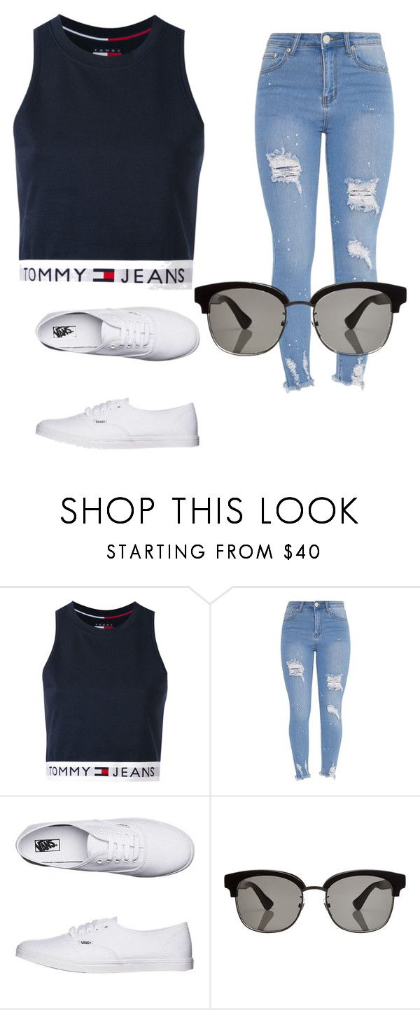 """""""."""" by valeria-arcos on Polyvore featuring Tommy Hilfiger, Vans and Gucci"""