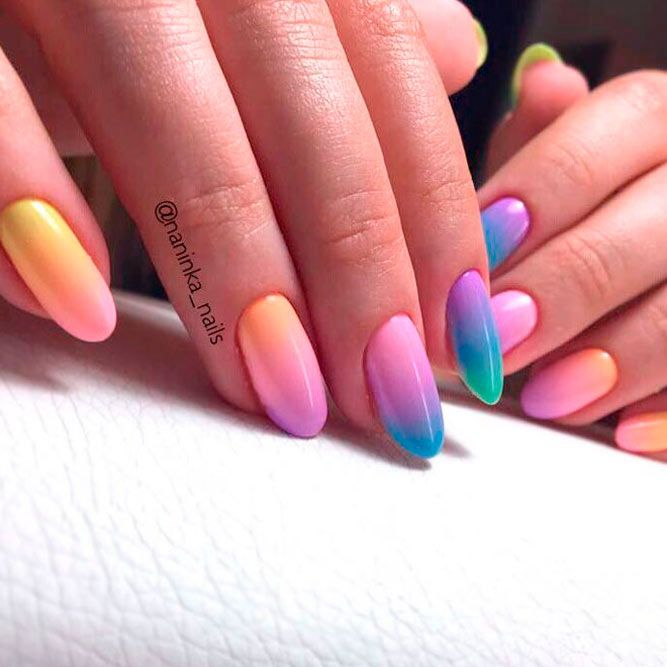 How To Do Ombre Nail Polish: 286 Best Nail Art! Images On Pinterest
