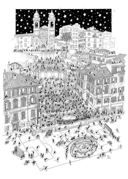 "Puzzle ""Roma"". #formiche #puzzle #belpaese #italy #roma #piazzaspagna #spagna #art #culture #landscape"