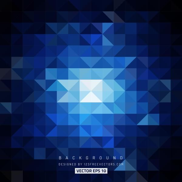 Blue Black Triangle Vector Background Vector Background