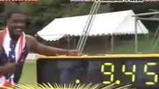VIDEO  Justin Gatlin just broke Usain Bolt's 100m World Record but there's a controversial catch