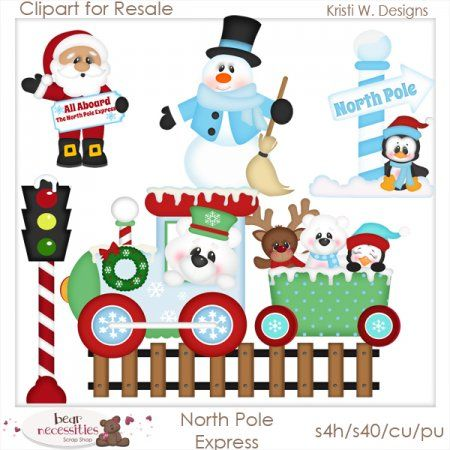 North Pole Express- Clipart for Resale [Northpole_express_ca] - $10.99 ...