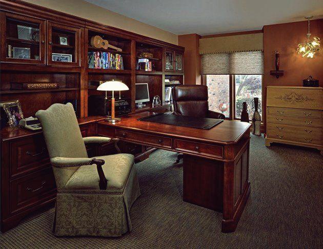21 Wirklich Beeindruckende Home Office Designs Im Traditionellen