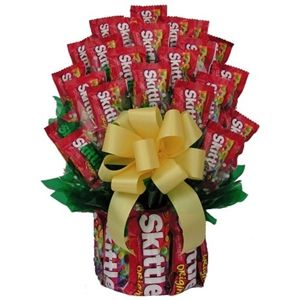 Skittles Candy Bouquet is available in 2 sizes from Arttowngifts.com.