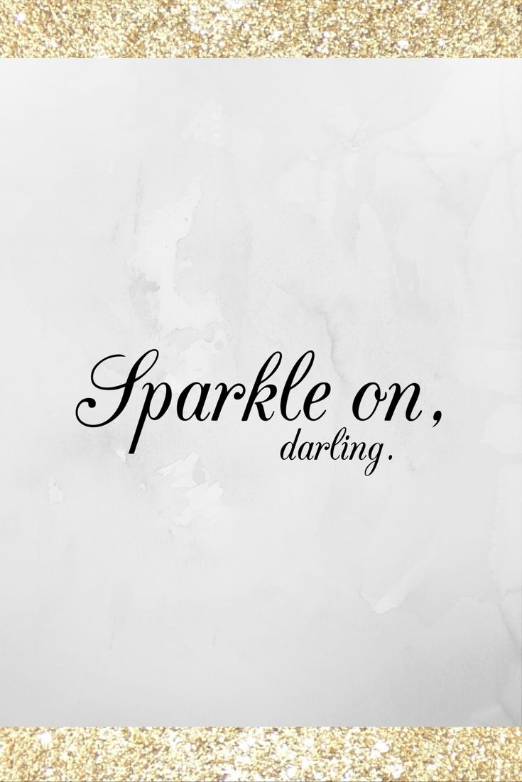 Sparkle on, sparkle on. Get your sparkle on over at Totally Dazzled.