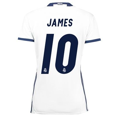 Real Madrid Home Jersey 2016/17 - women - with James 10 printing: The Real Madrid Home Shirt 2016-17 -… #RealMadridShop #RealMadridStore