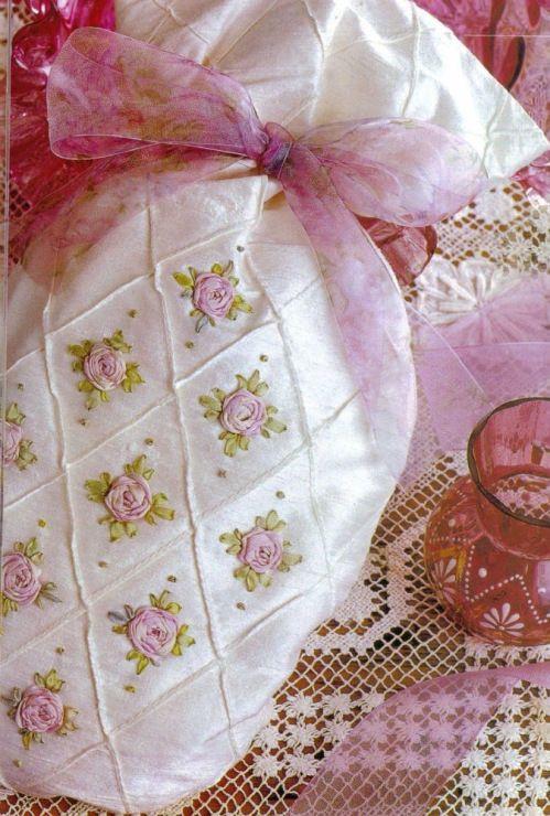 Beautiful Silk Ribbon Roses