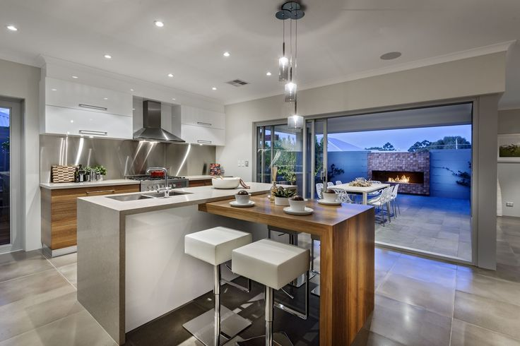 Contemporary-small-open-kitchen-with-dining-zone