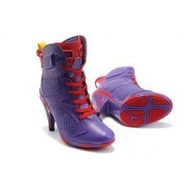 81Hr7i7E02ai Nike Air Jordan 6 High Heels Purple Red For Momen [nike high heels]