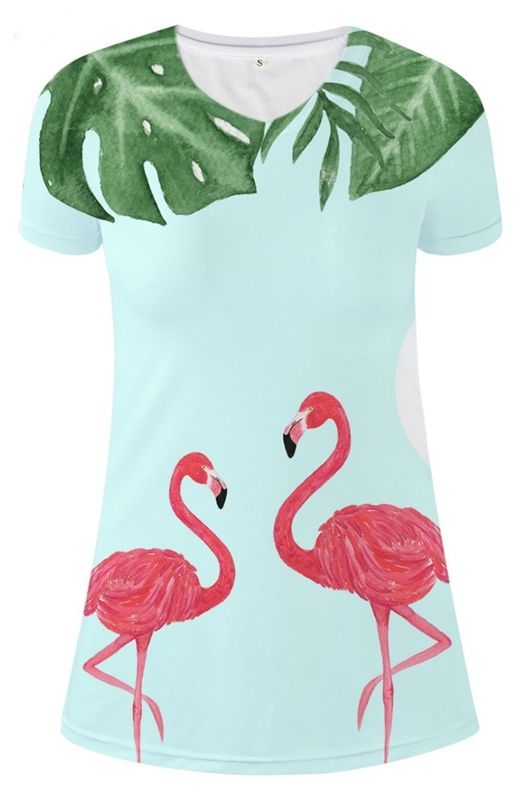 73a895e1 Women's Pink Flamingo Summer T-Shirt Dress #flamingos #pinkflamingos  #womensdress #summerdress #summerfashion #fashion #womensfashion #womenswear  # ...