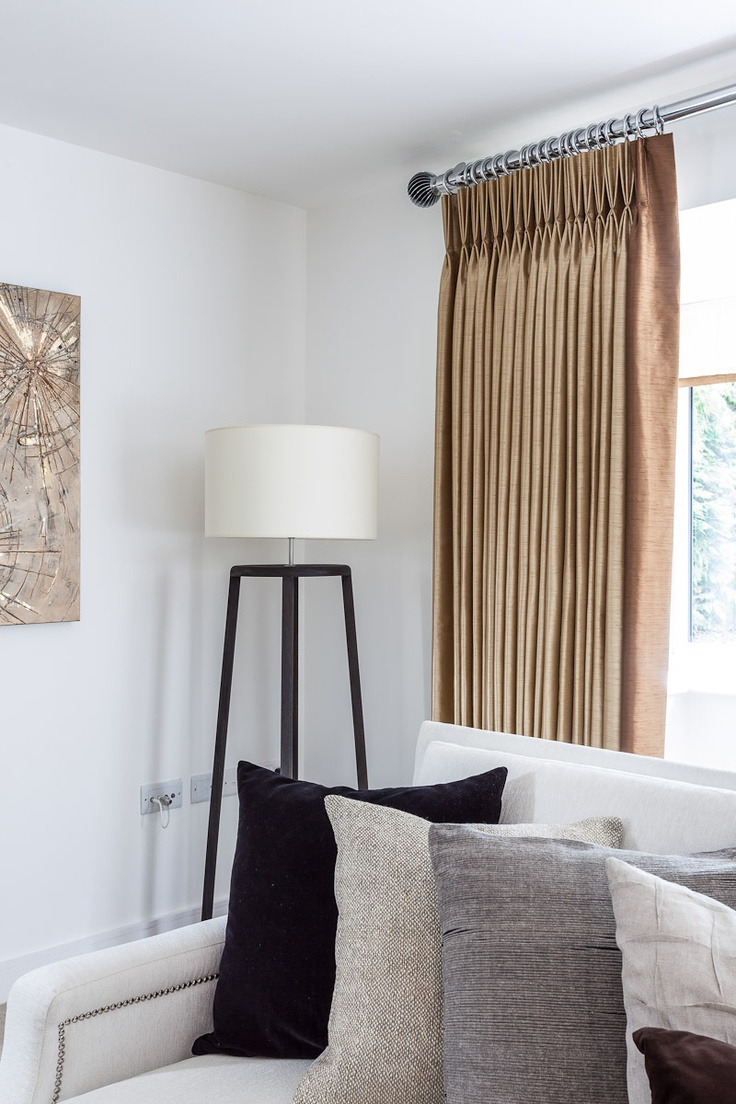 Living Room With Integra Inspired Evora Curtain Pole