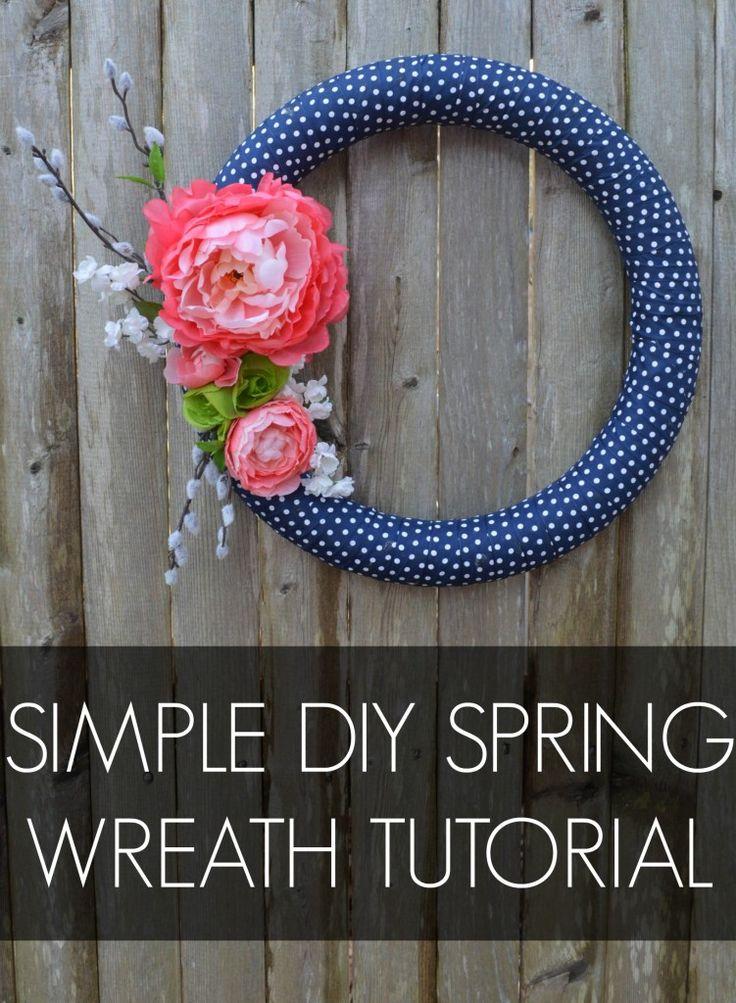 Simple DIY Spring Wreath Tutorial (scheduled via http://www.tailwindapp.com?utm_source=pinterest&utm_medium=twpin&utm_content=post50913386&utm_campaign=scheduler_attribution)