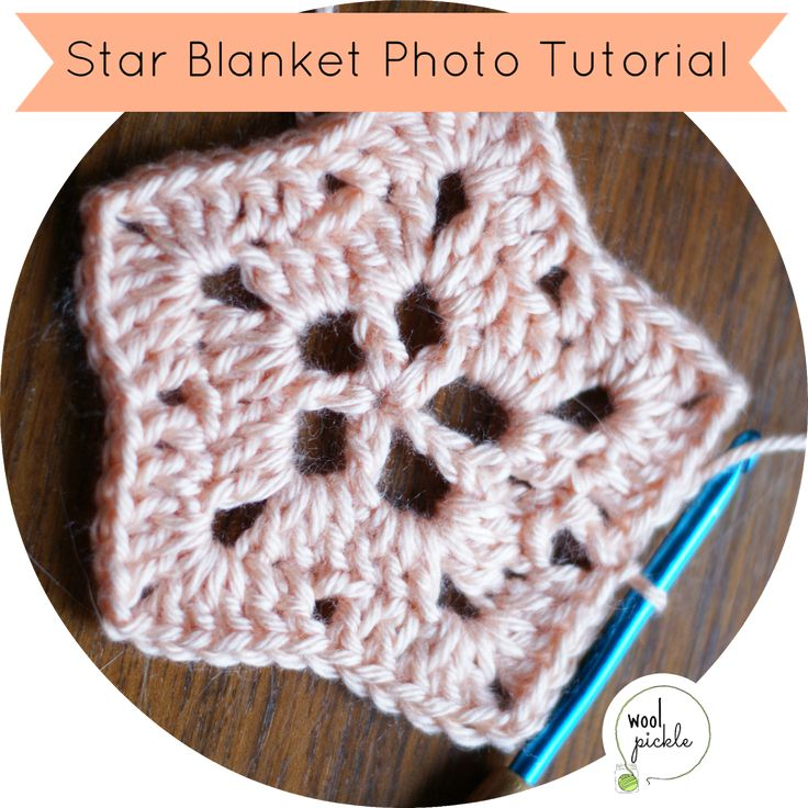 Recently I've been asked by a few people how to get through the first few rows of this star blanket crochet pattern that I linked to in a previous post.  I decided to quickly put together a p…