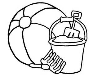 Beach Vacation A Ball And Bucket Sets Coloring Page