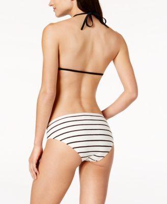 Kate Spade New York Stinson Beach Tie-Front Halter Bikini Top - Tan/Beige XS