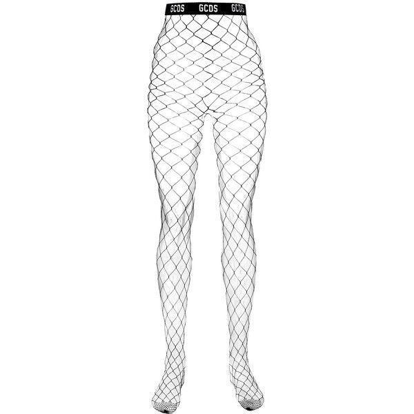 Gcds net tights ($63) ❤ liked on Polyvore featuring intimates, hosiery, tights, black, net lingerie, lingerie tights, net stockings, lingerie stockings and lingerie pantyhose