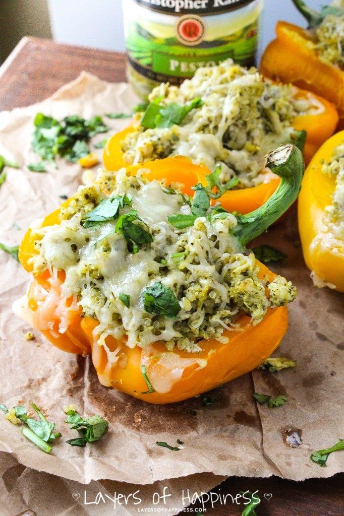 pesto chicken stuffed peppers-3