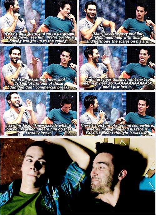 """The only time that I ever broke on set was when we were both paralyzed in the Sheriff station"" - Tyler Hoechlin"