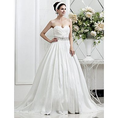 A-ligne sweetheart robe de mariée en taffetas – EUR € 164.99