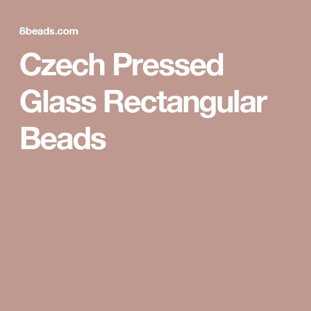Czech Pressed Glass Rectangular Beads