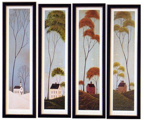 Four Seasons Warren Kimble S Art Print Framed Picture