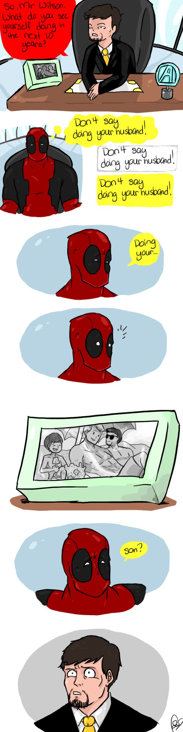So that's why Deadpool isn't in the avengers... by LordBeef.deviantart.com on @deviantART